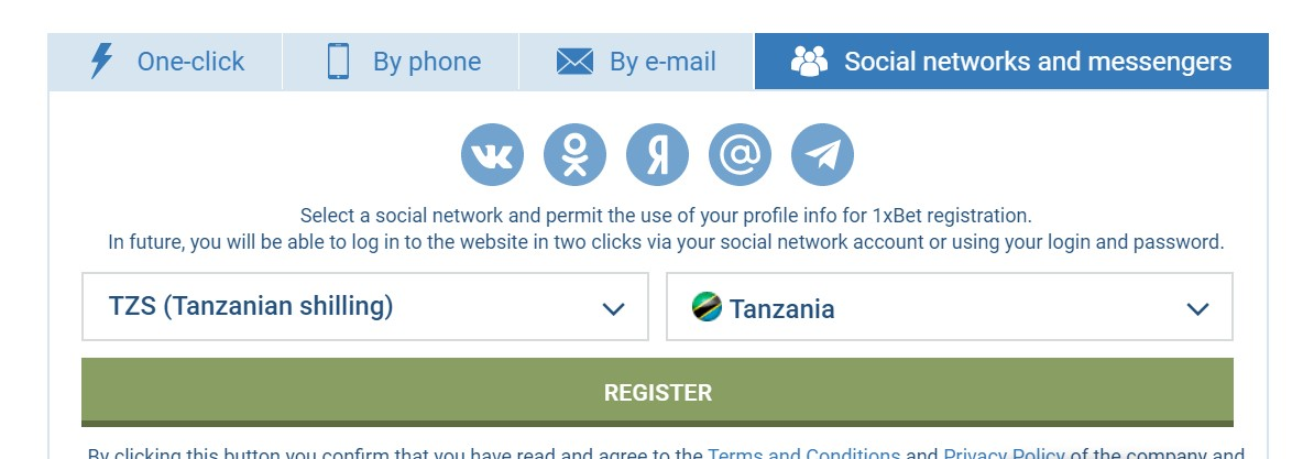 Registration using a Social Network